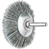 Abbildung PFERD Kegelbürste ungezopft, KBU, Kunststoffbesatz Siliciumcarbid (SiC)