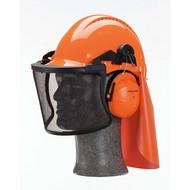 Abbildung 3M™ Nackenschutz GR3C in Orange, zur Befestigung an der Innenausstattung